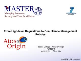 From High-level Regulations to Compliance Management Policies