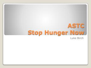 ASTC Stop Hunger Now