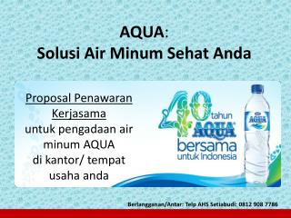 AQUA :  Solusi Air Minum Sehat Anda