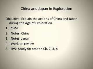 China and Japan in Exploration