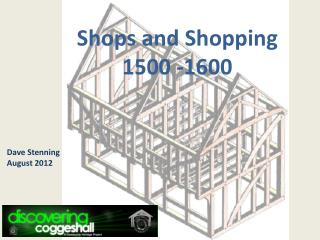 Shops and Shopping 1500 -1600