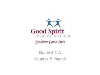 Grade 4 ELA Fountas  &  Pinnell