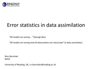 Error statistics in data assimilation