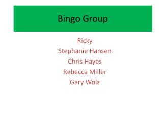 Bingo Group