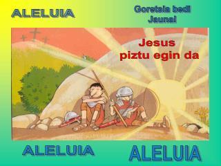 Jesus  piztu egin da