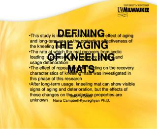 DEFINING THE AGING OF KNEELING MATS