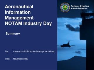 Aeronautical Information Management NOTAM Industry Day