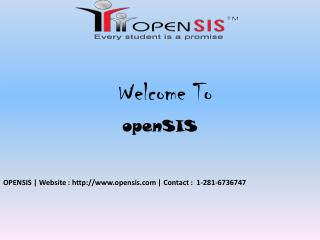 openSIS - Features