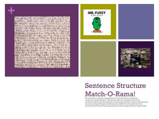 Sentence Structure  Match-O-Rama!
