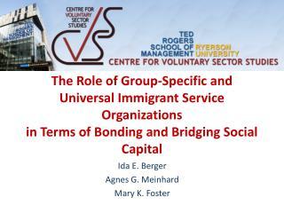 Ida E. Berger Agnes G.  Meinhard Mary K. Foster