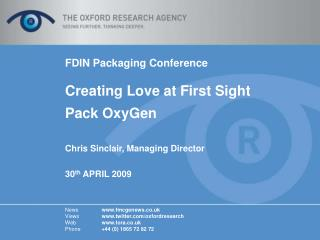 FDIN Packaging Conference Creating Love at First Sight  Pack OxyGen