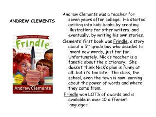 ANDREW CLEMENTS