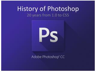 History of Photoshop