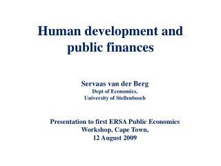 Human development and public finances