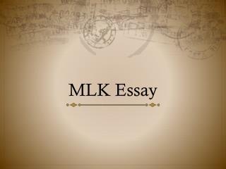 MLK Essay
