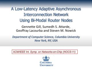 A Low-Latency Adaptive Asynchronous Interconnection Network  Using Bi-Modal Router Nodes
