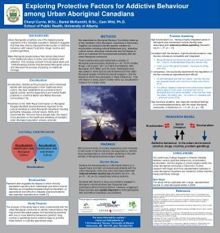 Exploring Protective Factors for Addictive Behaviour among Urban Aboriginal Canadians