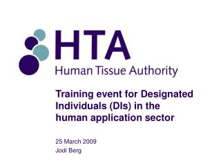 Training event for Designated Individuals (DIs) in the human application sector