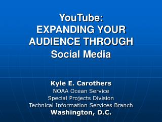 YouTube & NOAA
