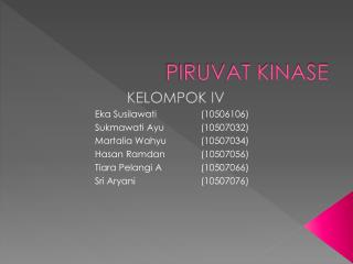 PIRUVAT KINASE