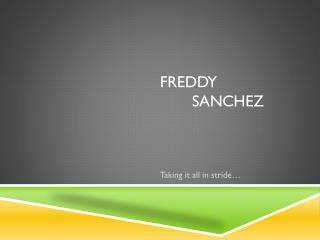 Freddy  sanchez