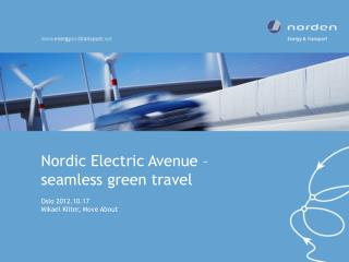 Nordic Electric Avenue –  seamless green travel