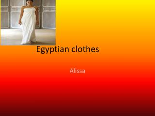 Egyptian clothes
