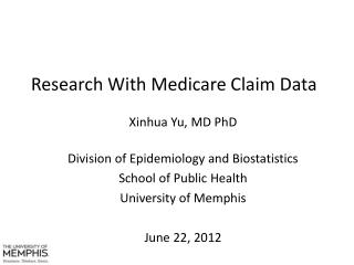 Research With Medicare Claim Data