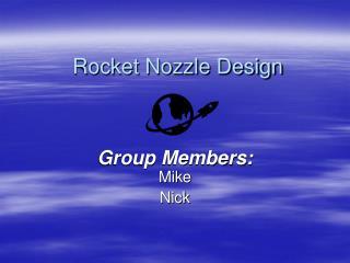 Rocket Nozzle Design