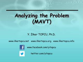 Analyzing the  Problem (MAVT)