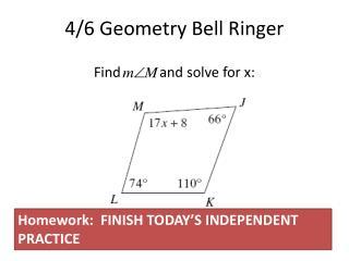 4/6 Geometry Bell Ringer
