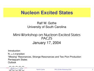 Nucleon Excited States