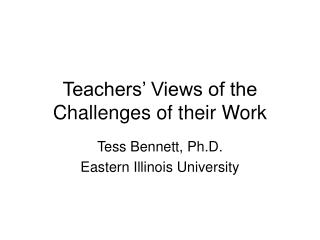 Teachers' Views of the Challenges of their Work