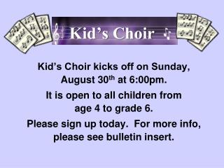Kid's Choir