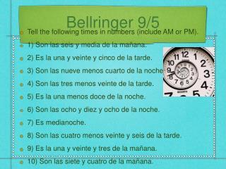 Bellringer 9/5