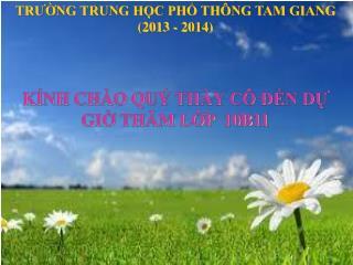 TRƯỜNG TRUNG HỌC PHỔ THÔNG TAM GIANG (2013 - 2014)