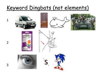 Keyword Dingbats (not elements)
