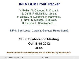 INFN GEM Front Tracker