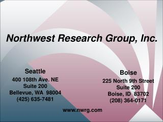 Northwest Research Group, Inc.
