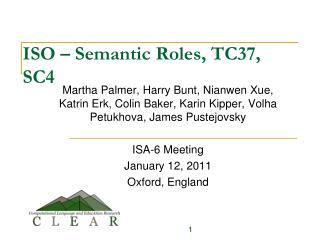 ISO – Semantic Roles, TC37, SC4