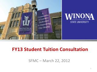 FY13 Student Tuition Consultation