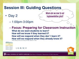 Session III: Guiding Questions