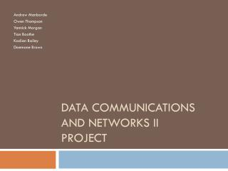 Data Communications and Networks II Project