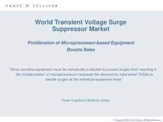 Power Supplies & Batteries Group