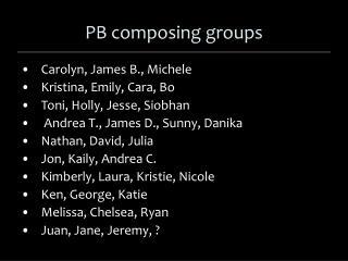 PB composing groups