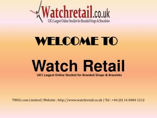 Watch Retail - Buy online strap and bracelet