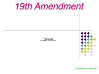 19th Amendment .
