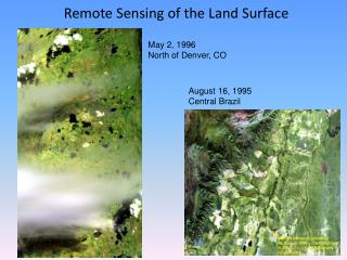 Remote Sensing of the Land Surface