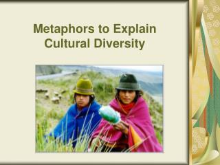 Metaphors to Explain Cultural Diversity