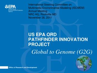 US EPA ORD PATHFINDER INNOVATION  PROJECT